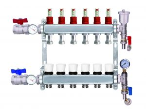 Stainless Steel Manifolds Complete Kit 2-12 Ports + 'A' Rated Grundfos / Wilo Pump Mixing Valve Pack