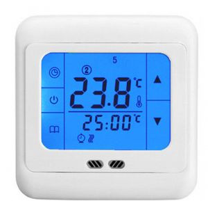 LCD Touch Screen Thermostat (Floor & Air Sensing Thermostat) 16 Amps